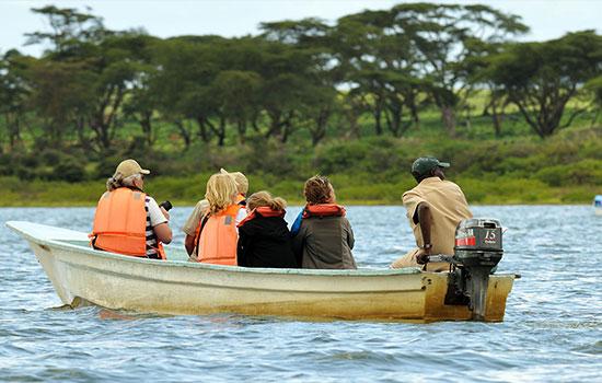 boat drive in Naivasha national Park